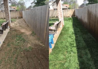 Adams Sod Before and After-April 2017